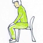 楽にイスから立ち上がる方法!楽にすわる方法も解説。膝が悪い人は必見です!