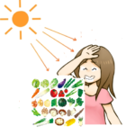 紫外線対策に良い食べ物、また食べるタイミングも大切。朝食べた方が良い食べ物、食べない方がいい食べ物