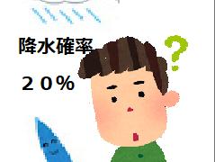 「降水確率」の本当の意味に驚き!降水確率0%でも雨が降る!?詳しく説明します