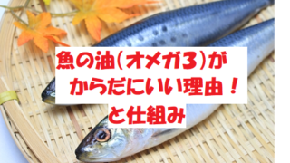 魚の油(オメガ3)が体にいい理由とそのしくみをわかりやすく説明!